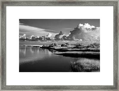 On The Sound Side Framed Print by Dan Carmichael