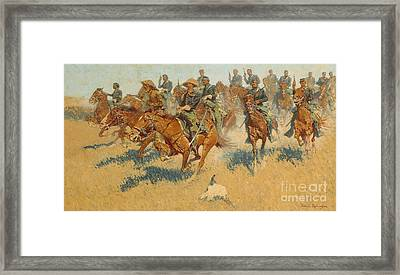 On The Southern Plains, 1907 Framed Print by Frederic Remington