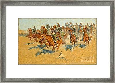 On The Southern Plains Frederic Remington Framed Print
