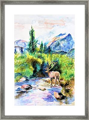 On The Stream Framed Print