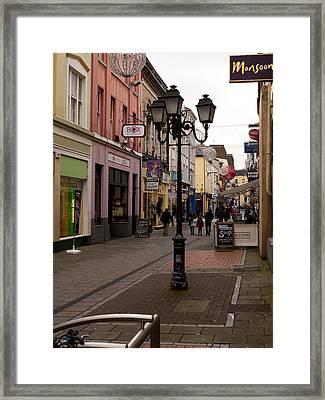 On The Street In Cork Framed Print by Rae Tucker