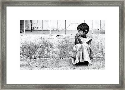 On The Street Framed Print by Tim Gainey