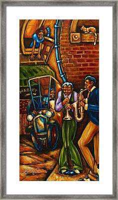 On The Sunnyside Framed Print by Daryl Price