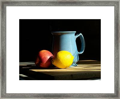 Framed Print featuring the photograph On The Table 1- Photograph by Jackie Mueller-Jones