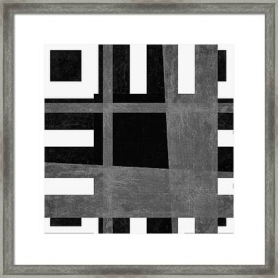 Framed Print featuring the photograph On The Tarmac Designer Series 3a12bw by Carol Leigh
