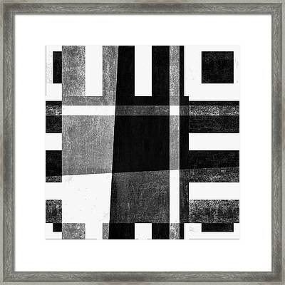 Framed Print featuring the photograph On The Tarmac Designer Series 3a14bwflip by Carol Leigh