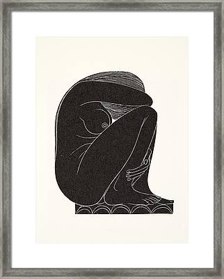 On The Tiles Framed Print by Eric Gill