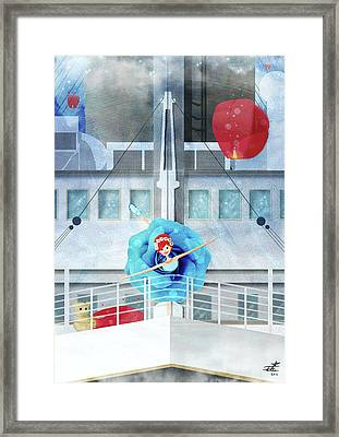On The Titanic Framed Print