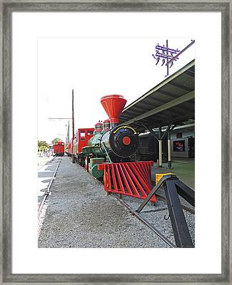 On The Tracks Framed Print by Marian Bell