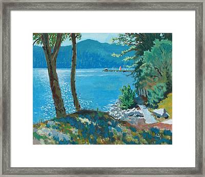 On The Trail Framed Print by Robert Bissett