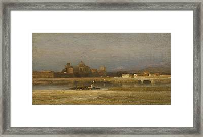 On The Viga Outskirts Of The City Of Mexico Framed Print by Samuel Colman