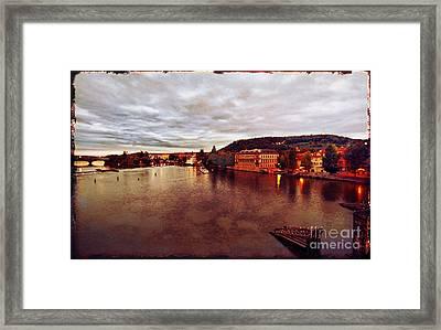 On The Vltava River Framed Print