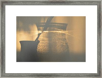 On The Wall  Framed Print by Lyle Crump