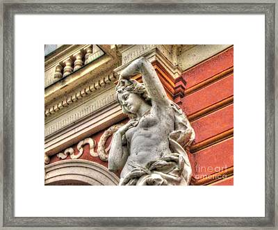 On The Wall Sit Framed Print