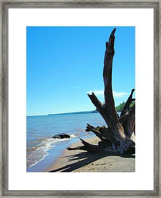 On The Water Front Framed Print by Peter Mowry
