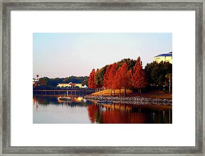 On The Water Framed Print by Jack Norton