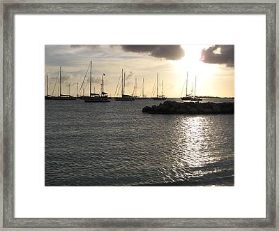 On The Water Framed Print by Michael Albright