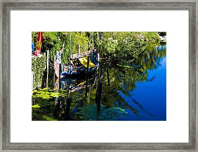 On The Water Framed Print by Sarita Rampersad