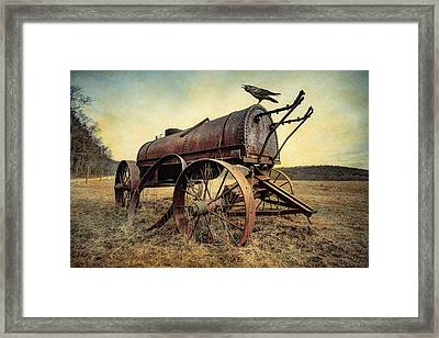 On The Water Wagon - Agricultural Relic Framed Print