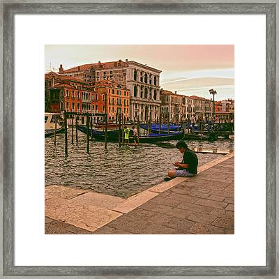 Framed Print featuring the photograph On The Waterfront by Anne Kotan