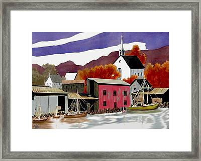 On The Waterfront Framed Print by Ron Chambers