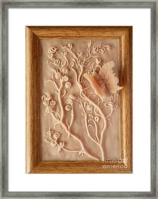 On The Way To Bronze - Alfalfa And Anglewing Framed Print by Dawn Senior-Trask