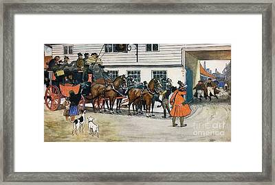On The Way To Dingley Dell Framed Print by MotionAge Designs