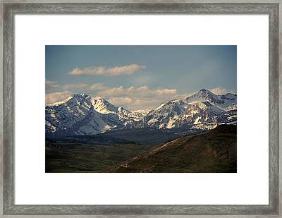 On The Way To Jacksonhole Wy Framed Print by Susanne Van Hulst