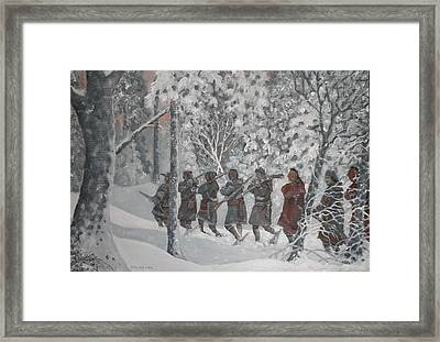 On The Way To Schenectady Framed Print by Giacomo Alessandro Morotti