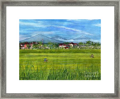 Framed Print featuring the painting On The Way To Ubud 3 Bali Indonesia by Melly Terpening