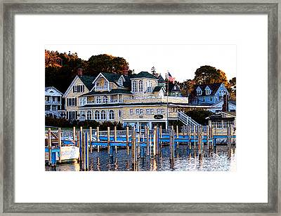 On The Wharf Framed Print