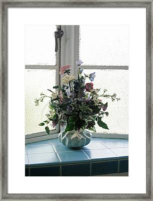 On The Window Framed Print