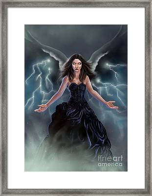 On The Wings Of The Storm Framed Print by Amyla Silverflame