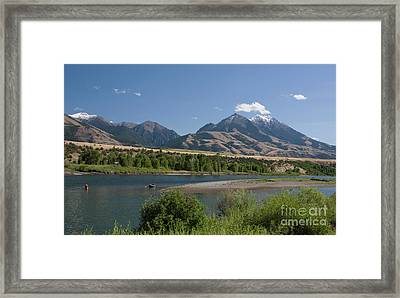On The Yellowstone Framed Print by Julian Wicksteed