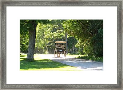 On Their Own Framed Print by Keith Stokes