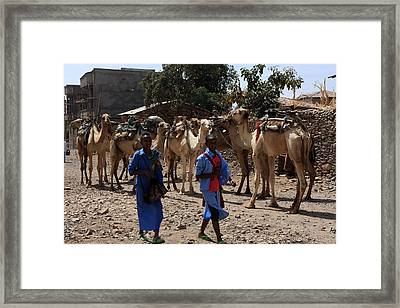 On Their Way To School Framed Print
