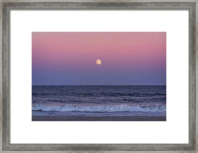 On This Harvest Moon 2017 Jersey Shore Framed Print