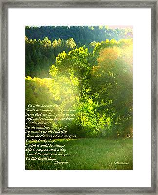 On This Lovely Day Framed Print