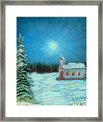 On This Night Framed Print by David Bentley