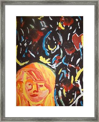 On This Sleepless Night Framed Print by Samantha  Gilbert
