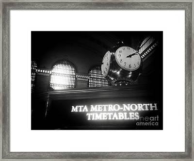 On Time At Grand Central Station Framed Print by James Aiken