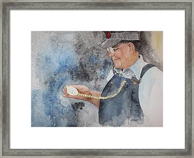 On Time Framed Print by Kim Whitton