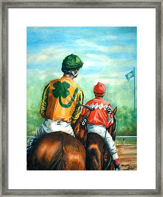 On To The Track Framed Print by Thomas Allen Pauly