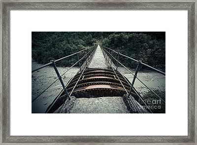 On Top Of A Bridge Framed Print by Svetlana Sewell