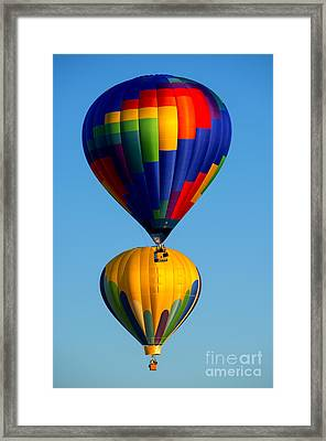 On Top Of It Framed Print