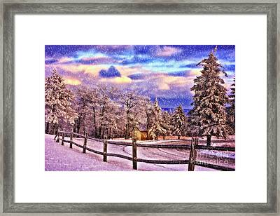 On Top Of Old Blue Knob Framed Print