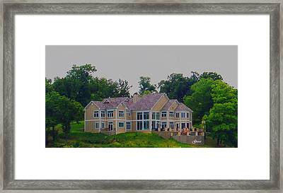 On Top Of The Hill Framed Print by Julie Grace