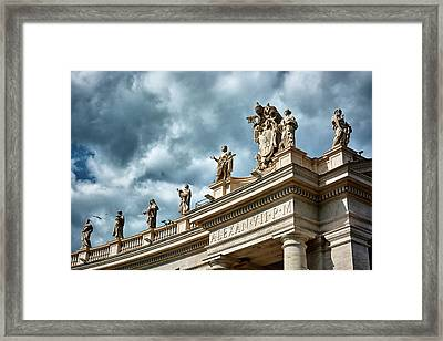 On Top Of The Tuscan Colonnades Framed Print