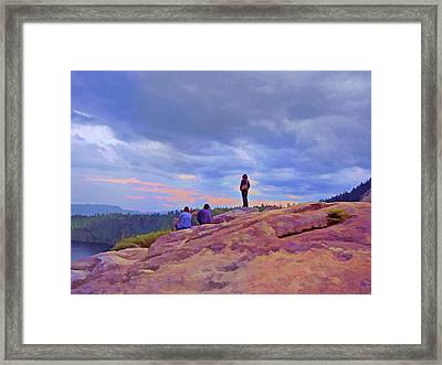 On Top Of The World 5 Framed Print