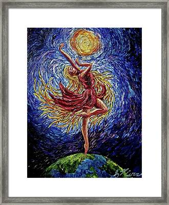 On Top Of The World Framed Print by Sebastian Pierre